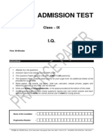 Class 9 Practice Paper-iq