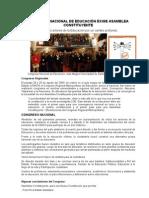 congreso  nacional de  educacion exige asamblea  constituyente