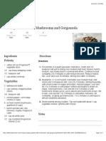 Creamy Polenta With Mushrooms and Gorgonzola