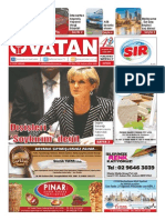 Yeni Vatan Weekly Turkish Newspaper August 2015 Issue 1814