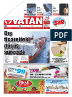 Yeni Vatan Weekly Turkish Newspaper September 2015 Issue 1818