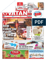 Yeni Vatan Weekly Turkish Newspaper September 2015 Issue 1820