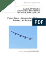 Construction of Solar Powered UAV Prototype Author: