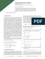 Three methods for calculating the Feynman propagator