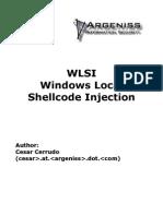 Windows Local Shellcode Injection WLSI