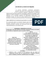 Planeación de La Ruta de Mejora La Quemada, Fllo, Zac 2.0