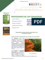 Propiedades de Las Zanahorias