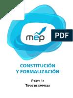 Tipos de Empresa Contitucion y Formalizacion