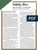 Oct 2015 Newsletter
