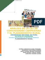 Analisis de Ley de Comunidades Campesinas