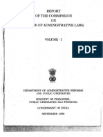 REPORT OF THE COMMISSION ON REVIEW OF ADMINISTRATIVE LAWS VOLUME-I