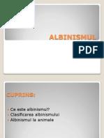 BIOLOGIE - ALBINISMUL