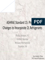 Standard 15 Proposed Changes for 2L Refrigerants