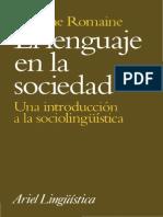 [Suzanne Romaine] El Lenguaje en La Sociedad Leido