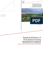 Design and Delivery of Post-disaster Housing Resettlement Programs