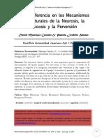 De La Diferencia En Los Mecanismos Estructurales De La Neurosis. psicosis y perversión