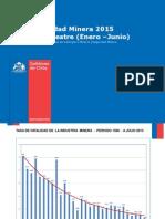 Estadisticas de accidentabilidad mineras en chile, segundo trimestre del 2015