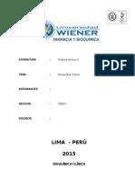 Analisis Clinicos II - Bioquimica Clinica