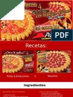 Receta de Pizza 4 Estaciones Con Tequitos