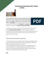 Libreta Militar y Constancia de Inscripción 20141111111111