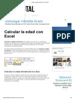 Calcular La Edad Con Excel - Excel Total
