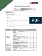 Acta de Evaluacion de Informe Final