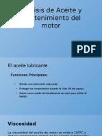 Análisis de Aceite y Mantenimiento Del Motor - Copia