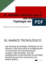 Ap1ElDisenioGraficoAntiguedadTipologiaDorflesEstilosII.ppt