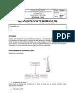 Implementacion Transmisor FM