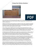 How To Pick Out A Garage Door Restore Business