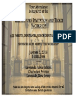 invitation and ticket flyer