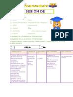 sesion de aprendizaje comunicacion