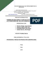 Proyecto Productivo Siembra de Maiz Amarillo Duro en Alta Densidad Sullana