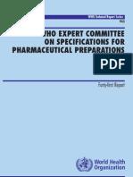 WHO Techmical Report Series No-943 Pharma Preparations 2007