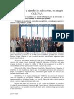 22.07.2014 Comunicado Para Prevenir y Atender Las Adicciones, Se Integra COMPAA