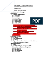 Esquema de Plan de Marketing