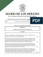 Gaceta Parlamentaria de la Asamblea Legislativa del DF Toma Protesta Asambleistas