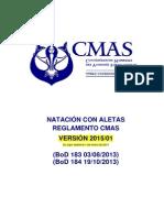Reglamento Internacional CMAS Natación con Aletas 2015