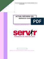 actual reforma del servicio civil