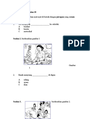 Soalan Bm Bahasa Melayu Pemahaman Tahun 2
