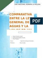 Comparativa Entre La Ley General de Aguas y La Ley de Rrhh