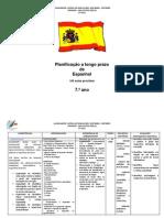 Planificação a Longo Prazo 7 Espanhol