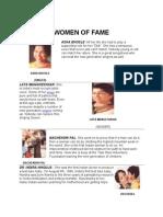 Indian Women of Fame