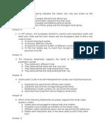 Araling Panlipunan Test Questions Sample