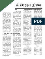 Pilcrow and Dagger Sunday News 10-11-2015