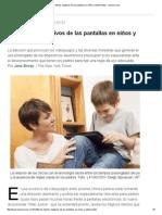 Los Efectos Negativos de Las Pantallas en Niños y Adolescentes - Lanacion