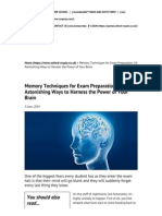 Memory Techniques for Exam Preparation_ 10 Astonishing Ways to Harness the Power of Your Brain