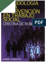 Metodologia de La Intervención Trabajo Social