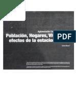 Poblacion, Hogares, Viviendas y Efectos de La Estacionalidad