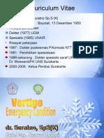 Dr Suratno - Vertigo as an Emergency Condition.ppt